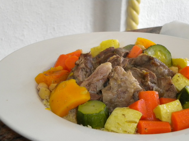 Vegetable Couscous with Lamb